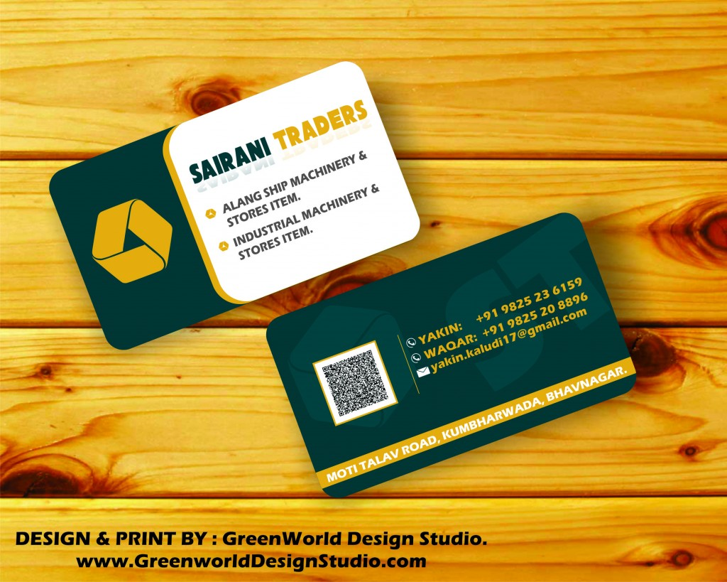 SAIRANI TRADERS VISITING CARD DESIGN | Website & Application Development