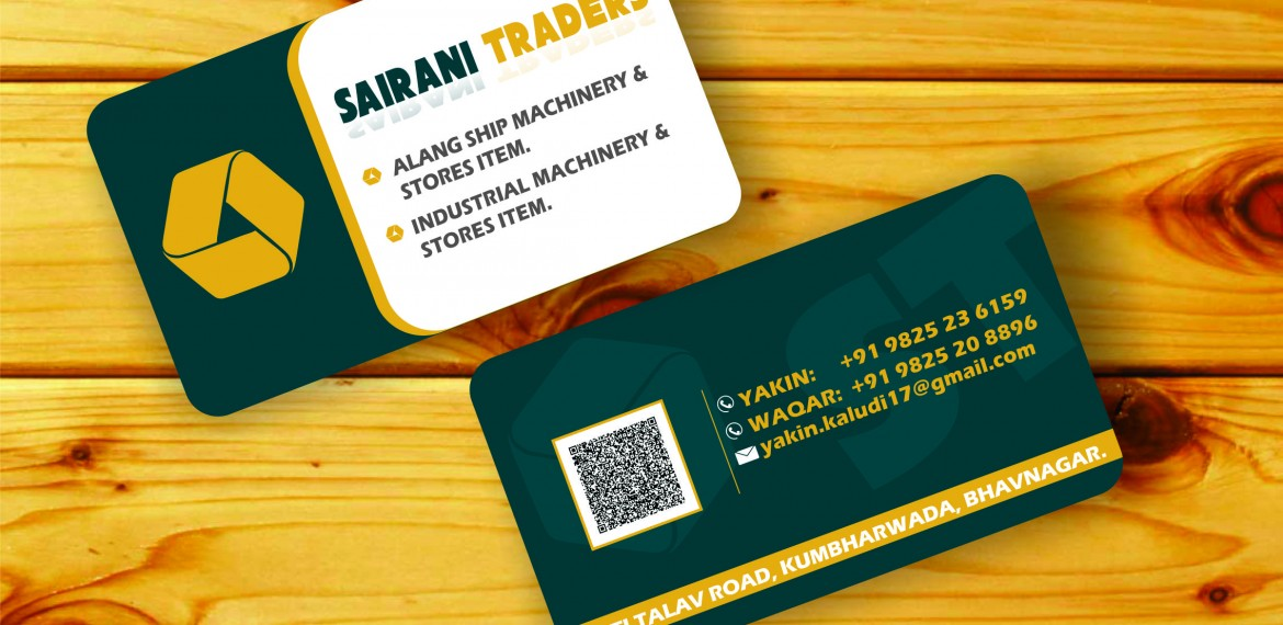 SAIRANI TRADERS VISITING CARD DESIGN | Website & Application ...